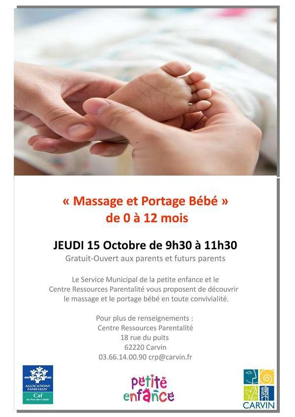 Atelier Massage et Portage bébé