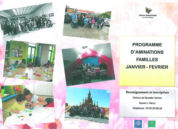 Programme des animations familles
