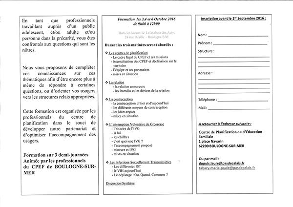 Formation prof octobre 2016 CPEF