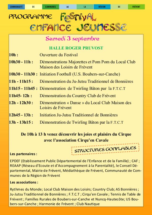 festival enfance jeunesse programme 2016