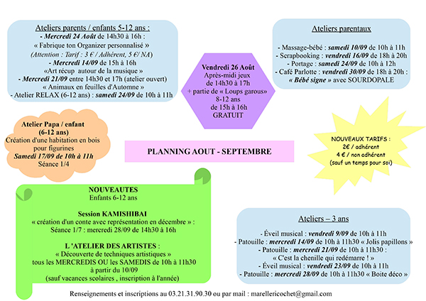 planning septembre 2016