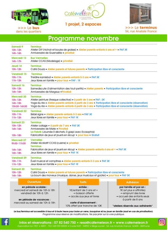 programme novembre