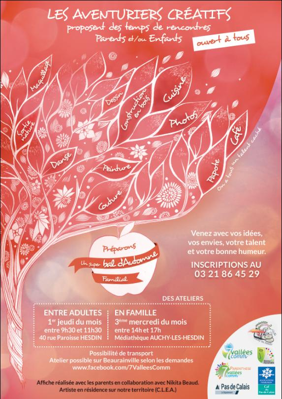 Affiche Ateliers Parents Enfants 2020 Bal d'Automne (1)