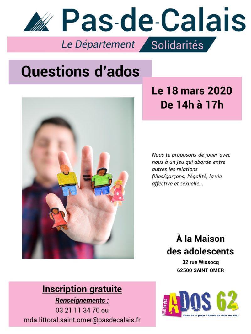 Affiche A3 - Questions d'ados 18 03 20